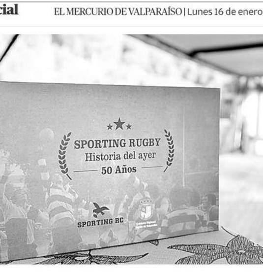 Sporting Rugby lanzó libro de sus 50 años